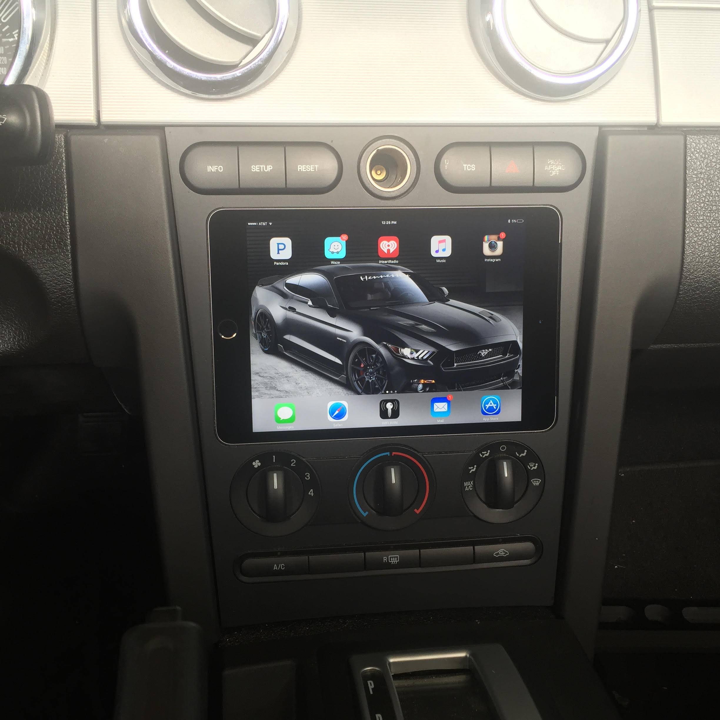05 09 ford mustang ipad mini nexus 7 dash kit keyboard keysfo