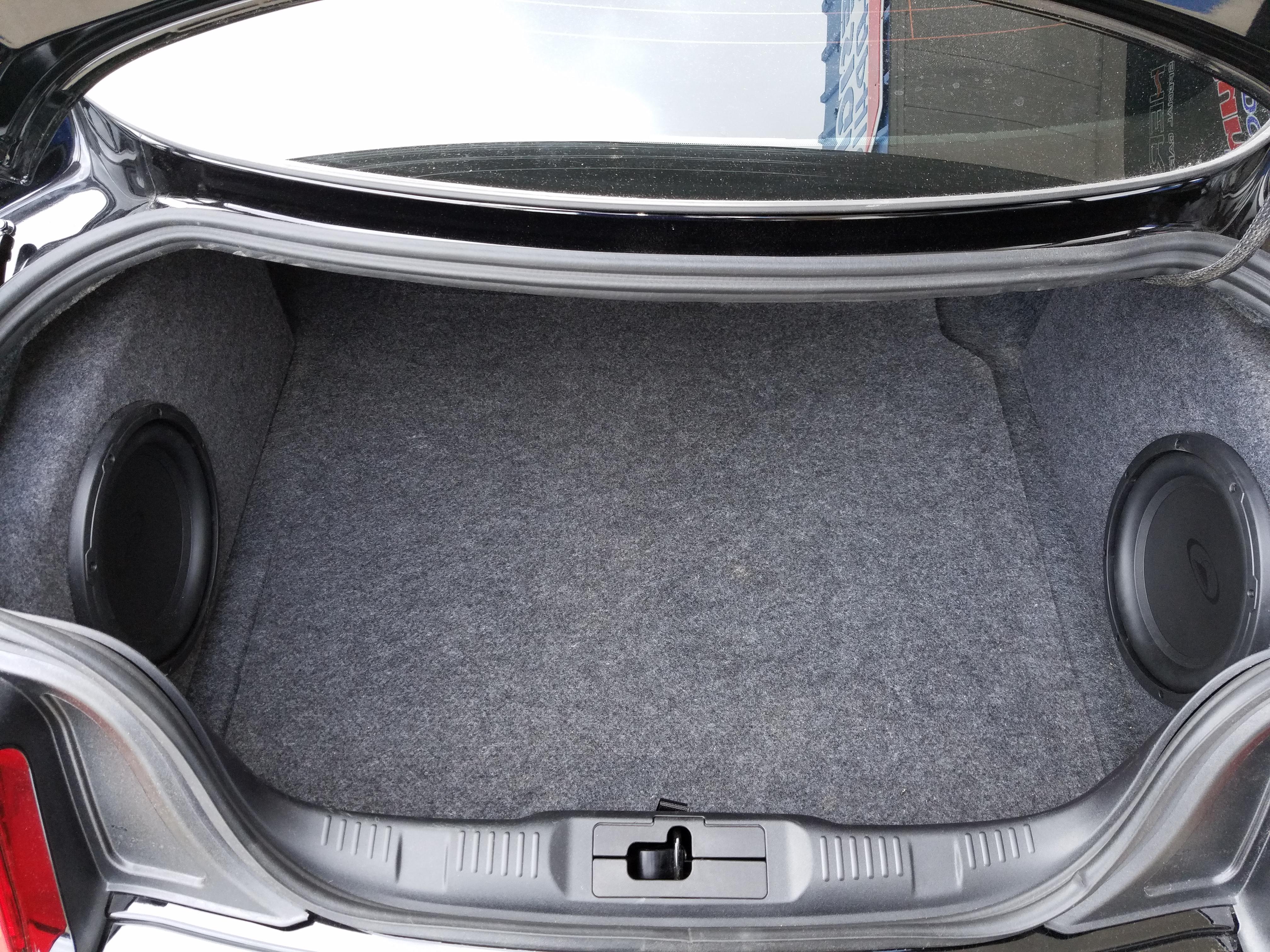 2015 2017 Ford Mustang Subwoofer Box Phantom Fit Enclosure