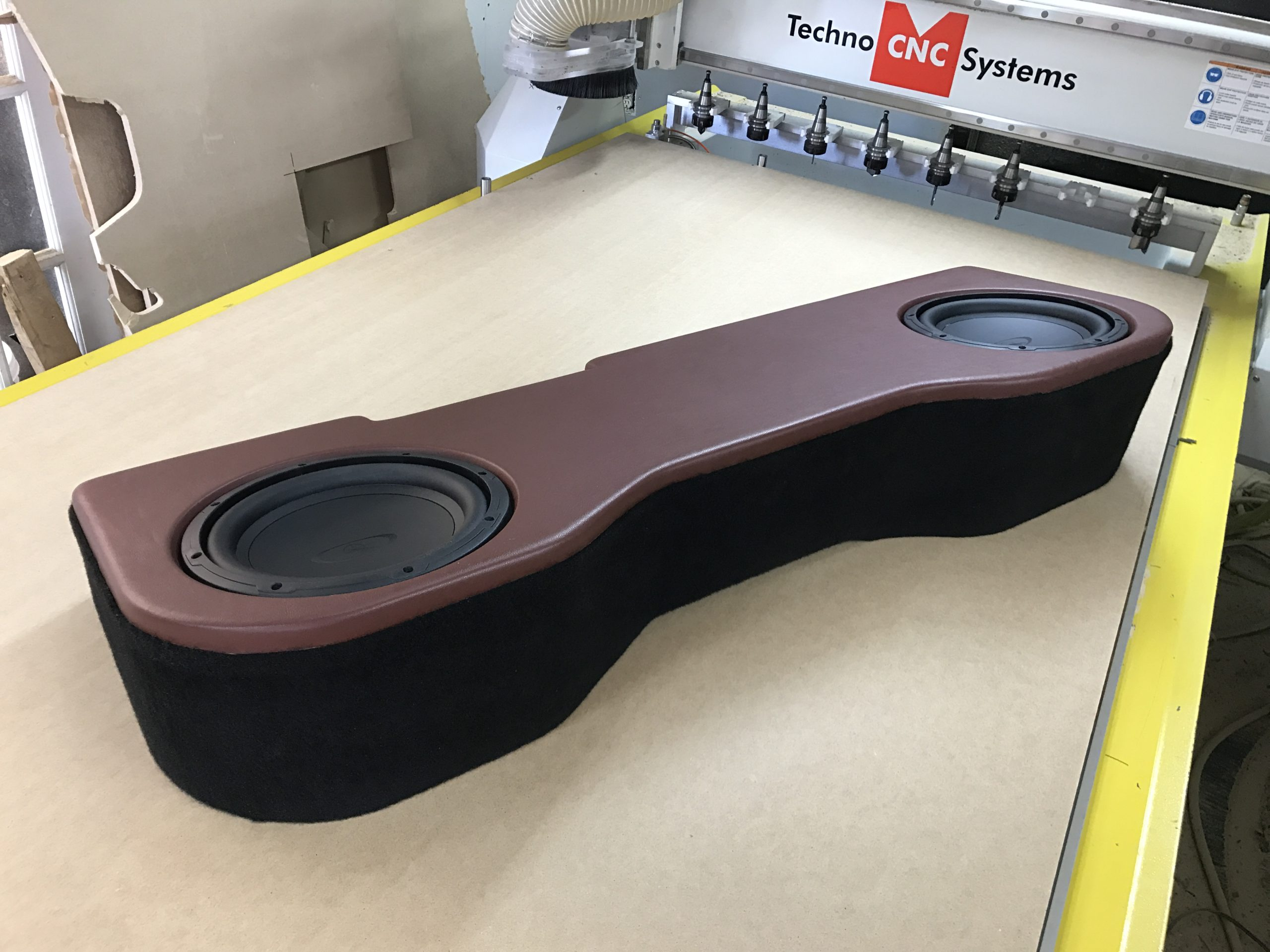 GMC Sierra underseat subwoofer enclosure