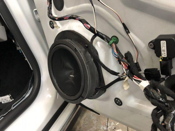 Tesla Model S Front Door Speaker Adapters